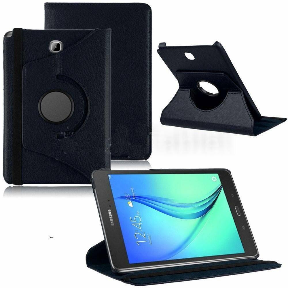 Capa Tablet Samsung Galaxy Tab A 8.0 T350 T355 P355 2015 Giratória Preta