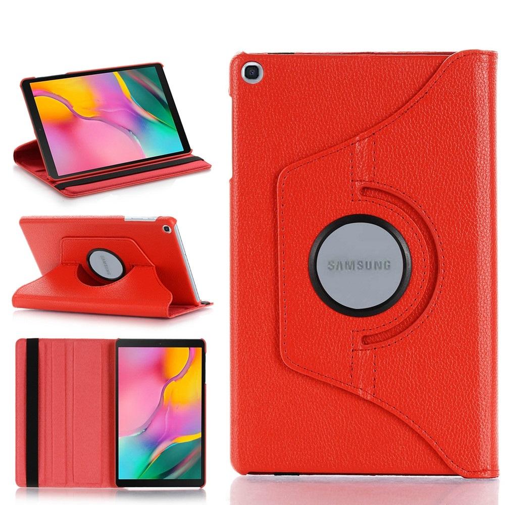 Capa Tablet Samsung Galaxy Tab A 8 T290 T295 Executiva Giratória Vermelha