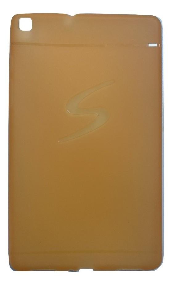 Capa Tablet Samsung Galaxy Tab A 8 T290 T295 Traseira Silicone Logo Laranja Neon