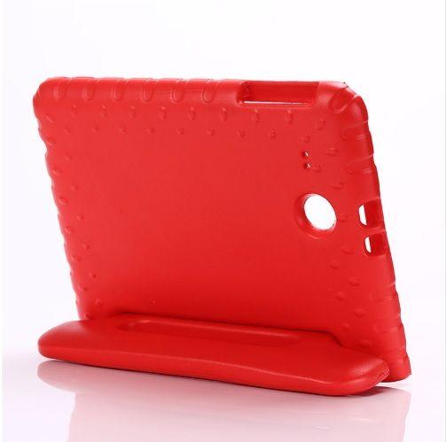 Capa Tablet Samsung Galaxy Tab E 9.6 T560 T561 T565 Anti Impacto Alça Maleta Vermelha
