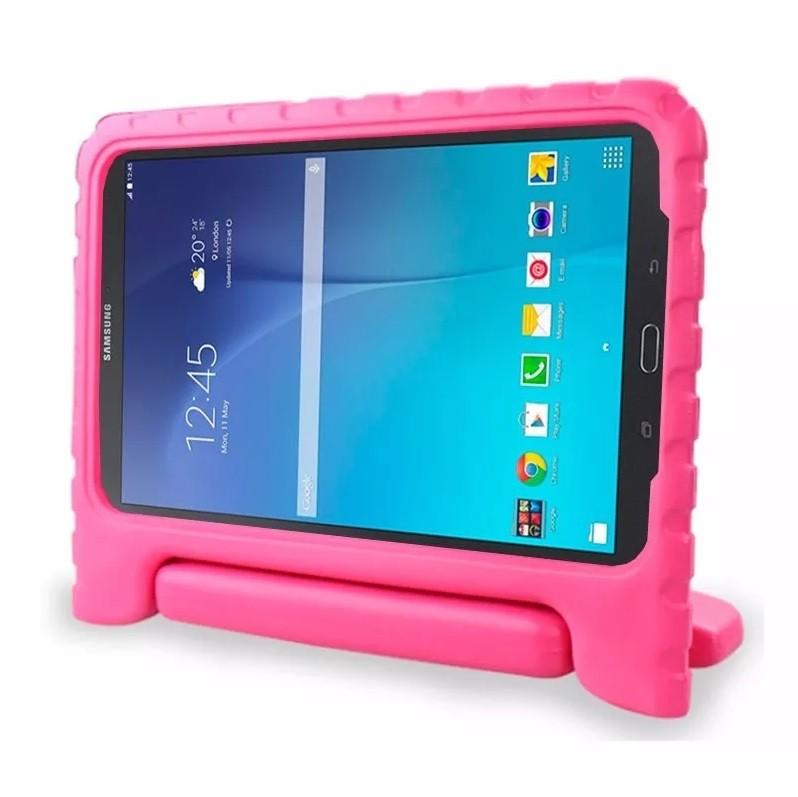 Capa Tablet Samsung Galaxy Tab E 9.6 T560 T561 T565 Anti Impacto Infantil Alça Maleta