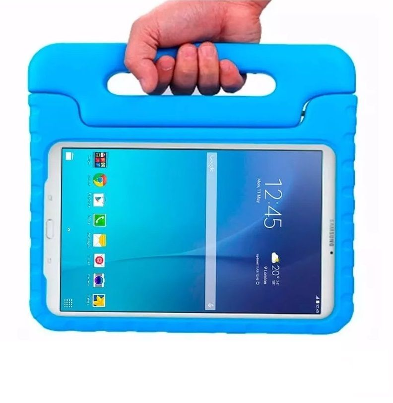 Capa Tablet Samsung Galaxy Tab E 9.6 T560 T561 T565 Anti Impacto Infantil Maleta Azul