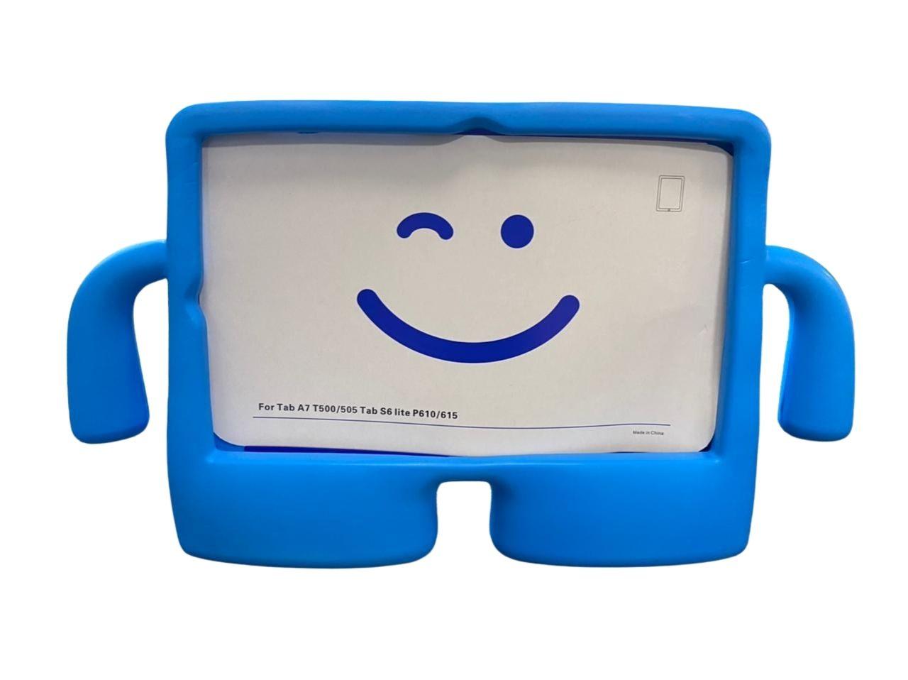 Capa Tablet Samsung Galaxy Tab S6 Lite 10.4 P610 P615 Anti Impacto Infantil Boneco Azul