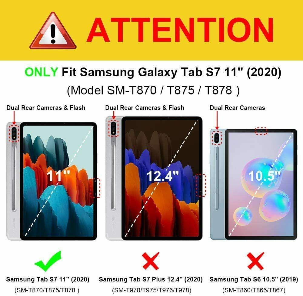 Capa Tablet Samsung Galaxy Tab S7 Tela 11 T870 T875 Giratória Executiva Preta