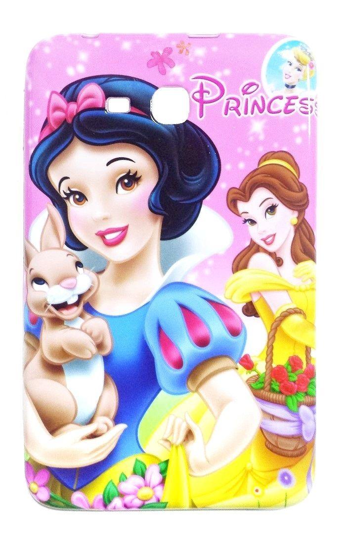 Capa Tablet Samsung Galaxy Tab T110 T111 T113 T116 Infantil Princesas Disney Branca de Neve e Bela