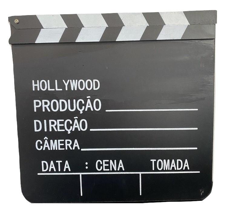Claquete de Madeira Gravação Cenário Enfeite Decoração Hollywood