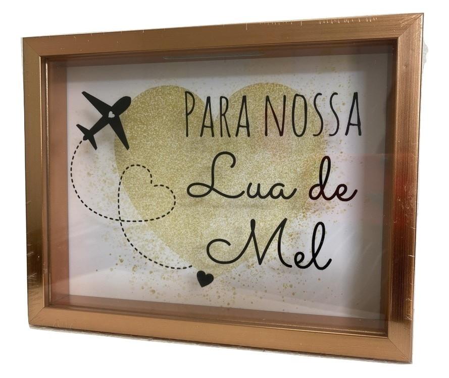 Cofre Temático 'Para Nossa Lua de Mel' Parede/Mesa Decorativo