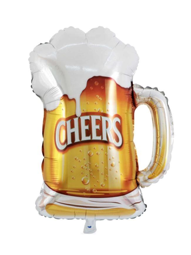 Kit de Balões Temático Caneca de Chopp Cerveja 7 Bexigas Decoração