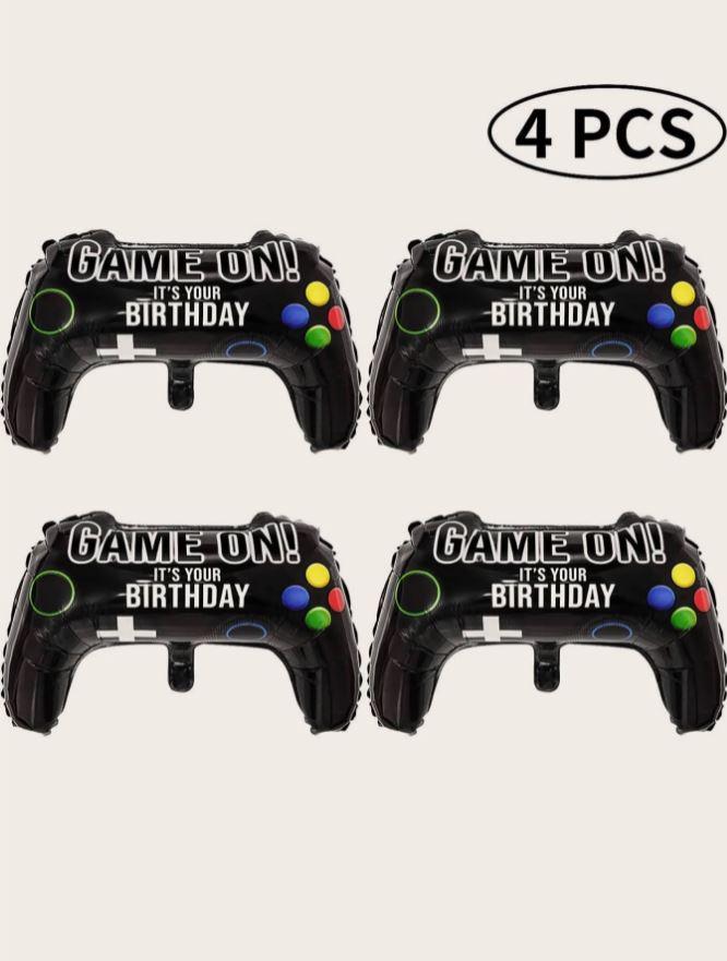 Kit de Balões Temático Gamer 4 peças Formato Controle de Game
