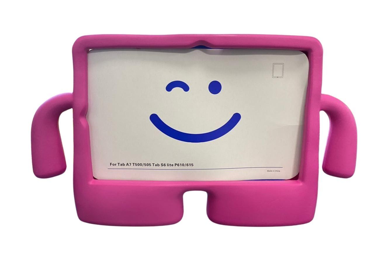 Capa Tablet Samsung Galaxy Tab S6 Lite 10.4 P610 P615 Anti Impacto Infantil Boneco Rosa