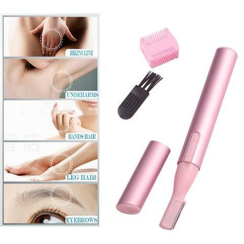 Depilador Portátil Facial e Íntimo Unissex Ultra Fino Rosa