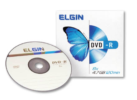 Dvd -r gravável 4.7gb 120min 16x envelope Elgin 1un
