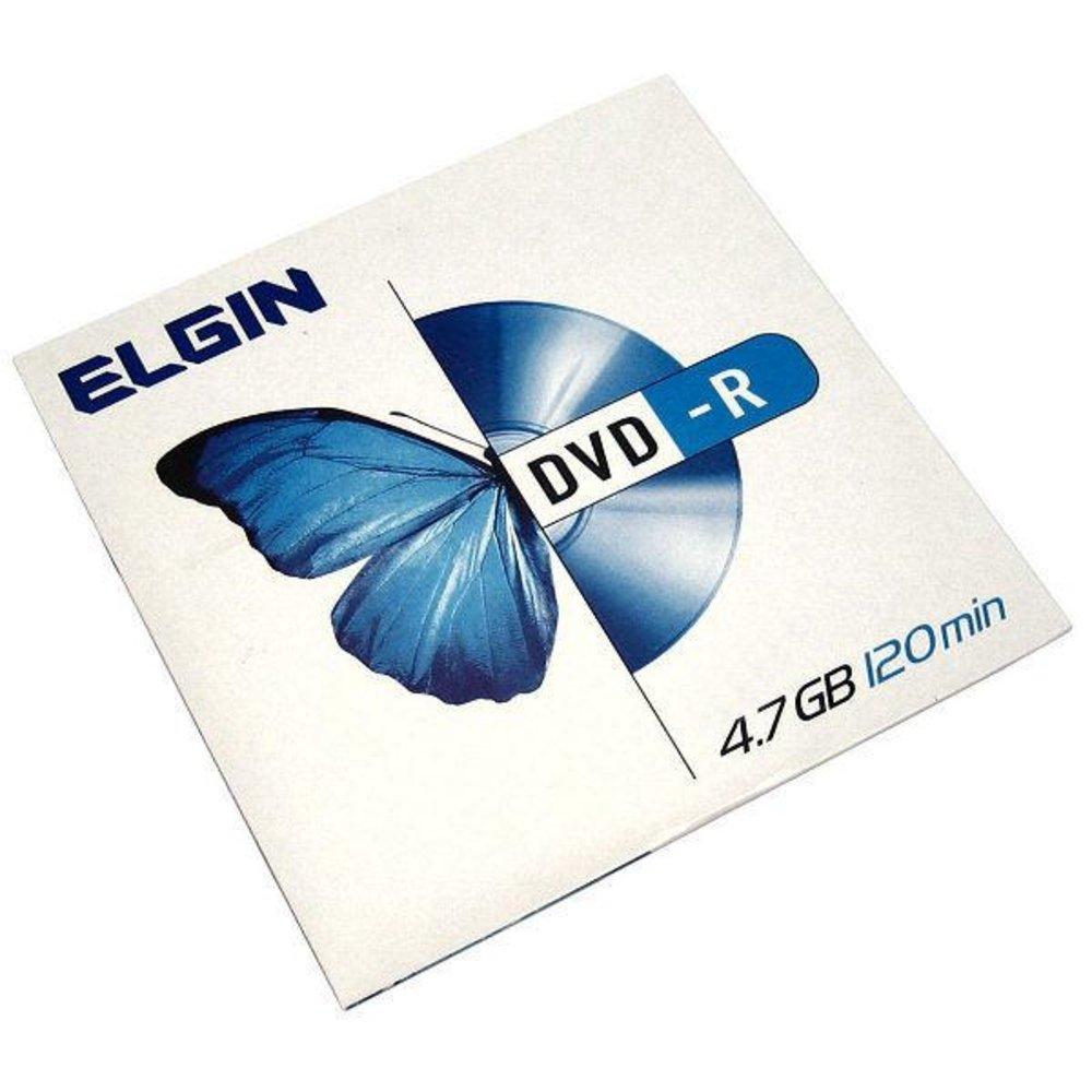 Dvd -r gravável 4.7gb 120min 16x envelope Elgin 1un