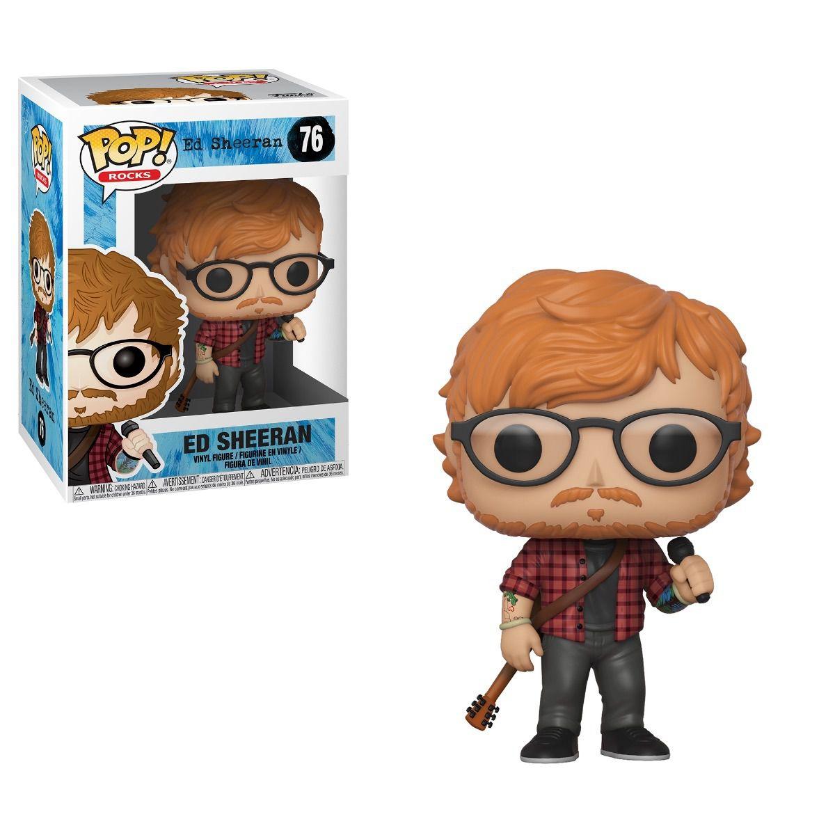 Funko Pop Ed Sheeran Boneco Colecionável Linha Rocks