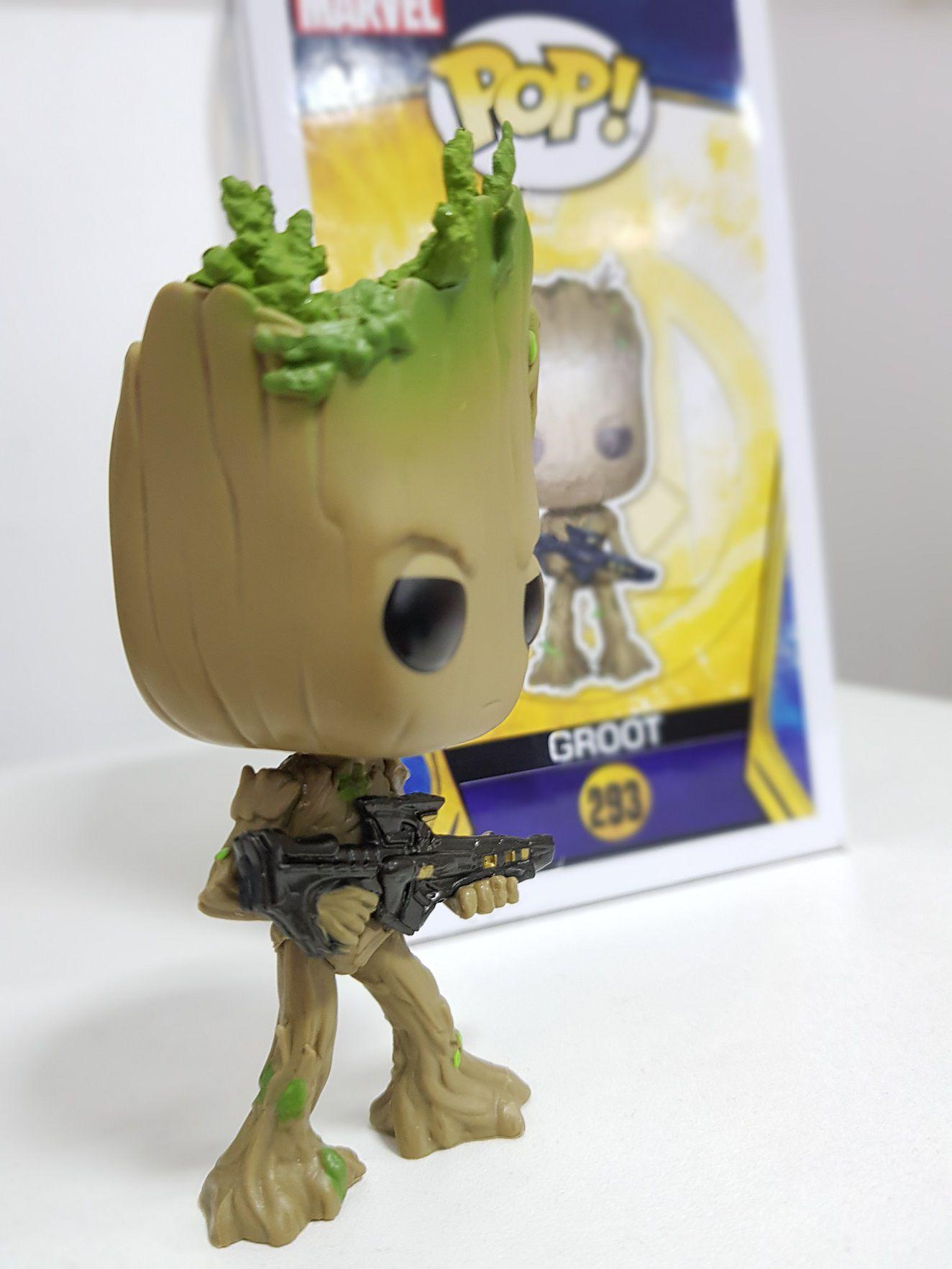 Funko Pop Groot Gardiões da Galáxia Avengers Infinit War Boneco Colecionável