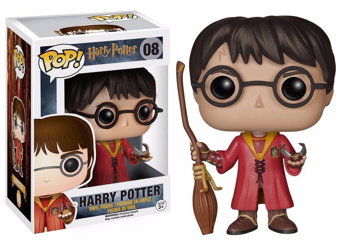 Funko Pop Harry Potter com Nimbus e Pomo de Ouro Boneco Colecionável