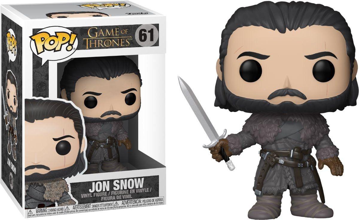 Funko Pop Jon Snow 61 Game Of Thrones Got Boneco Colecionável