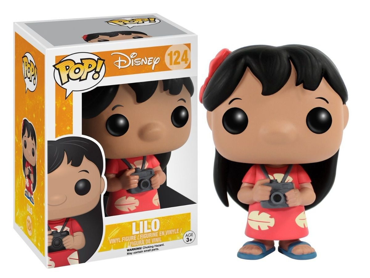 Funko Pop Lilo 124 Disney Boneco Filme Lilo & Stitch Colecionável