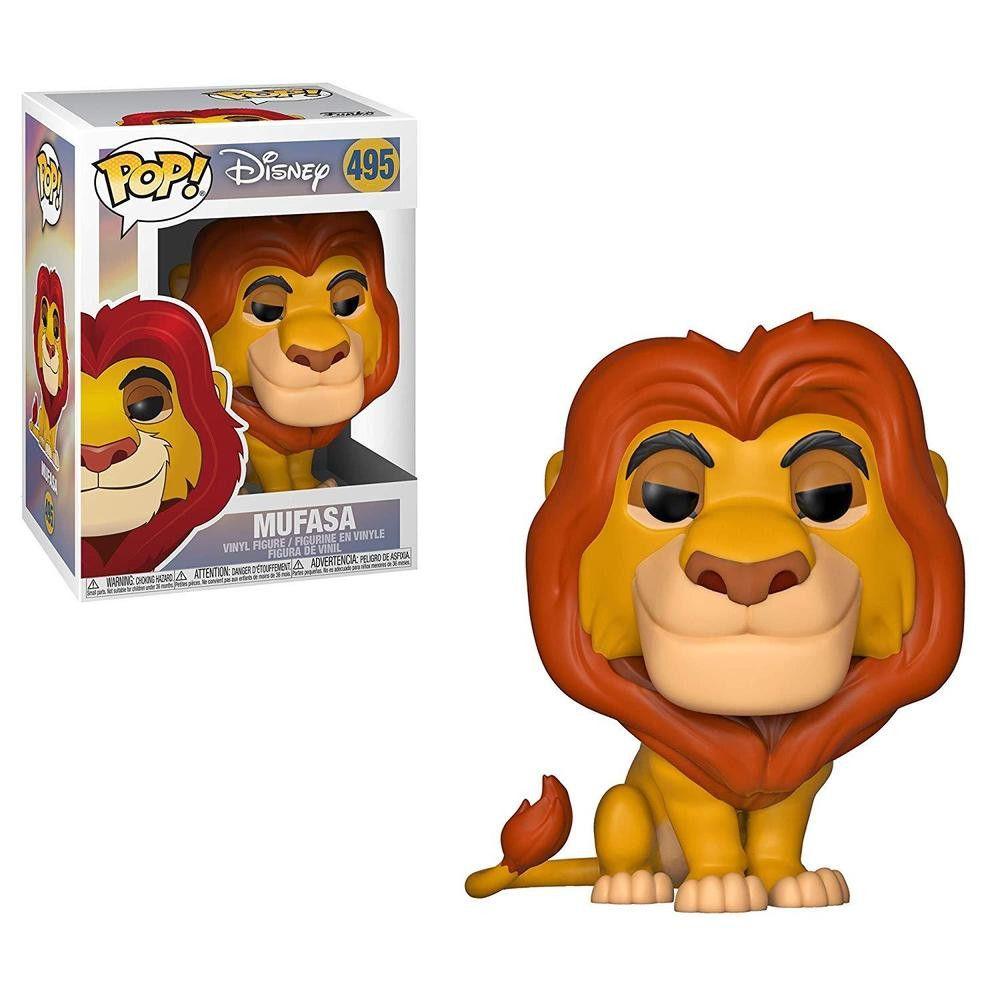 Funko Pop Mufasa Rei Leão 495 Disney Boneco Colecionável