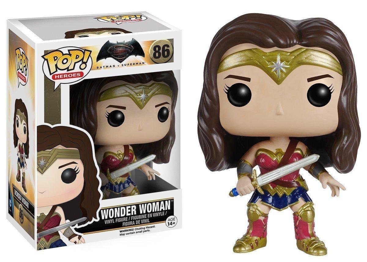 Funko Pop Mulher Maravilha 86 Liga da Justiça Wonder Woman Boneco Colecionável