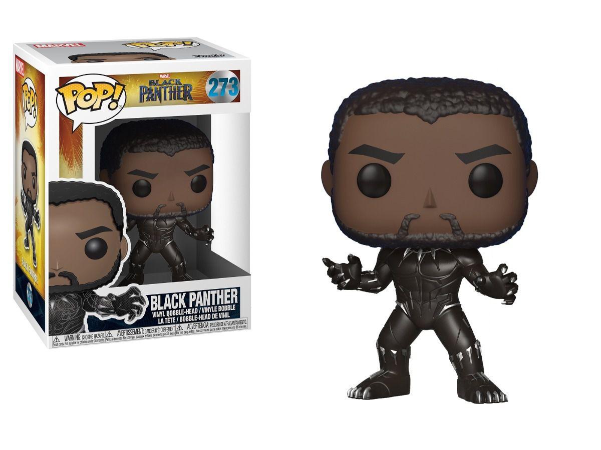 Funko Pop Pantera Negra Avengers Marvel Black Panther Boneco Colecionável