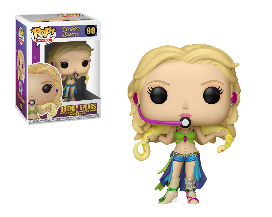 Funko Pop Rocks Britney Spears Boneco Colecionável