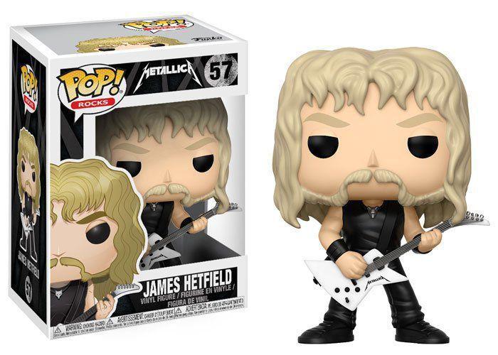Funko Pop Rocks James Hetfield Metállica 57 Boneco Colecionável