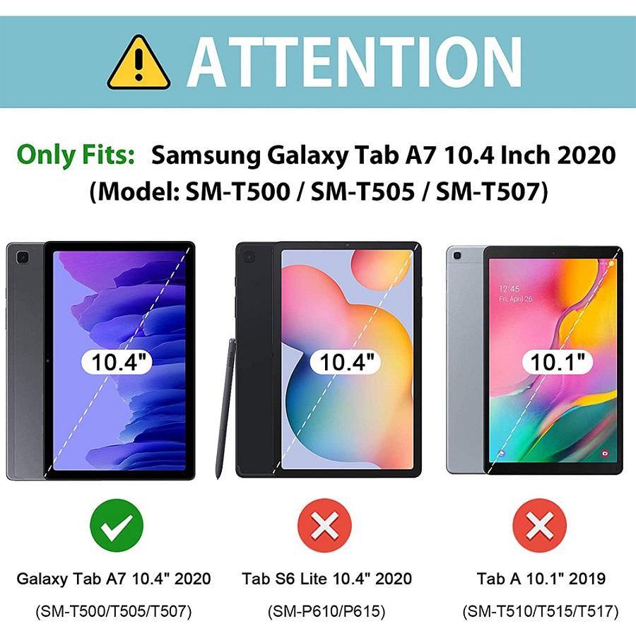 Kit Capa Tablet Samsung Galaxy Tab A7 10.4 T500 T505 Boneco Azul + Vidro