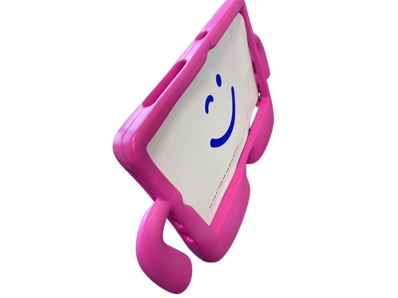 Kit Capa Tablet Samsung Galaxy Tab A7 10.4 T500 T505 Boneco Rosa + Vidro