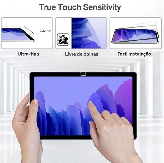 Kit Capa Tablet Samsung Galaxy Tab A7 10.4 T500 T505 Giratória + Vidro