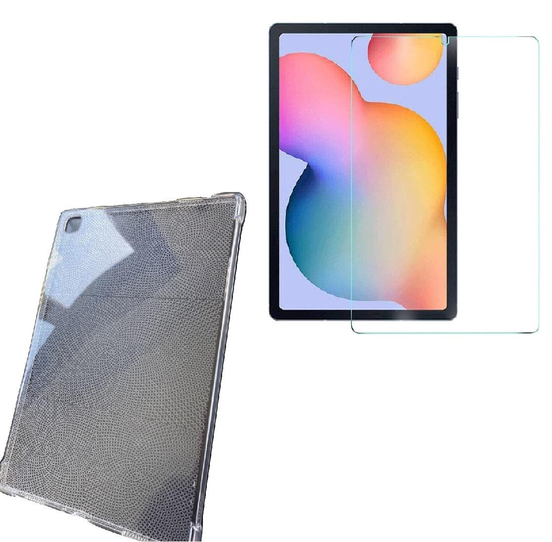 Kit Capa Tablet Samsung Galaxy Tab A7 10.4 T500 T505 Tpu Clear + Película Vidro