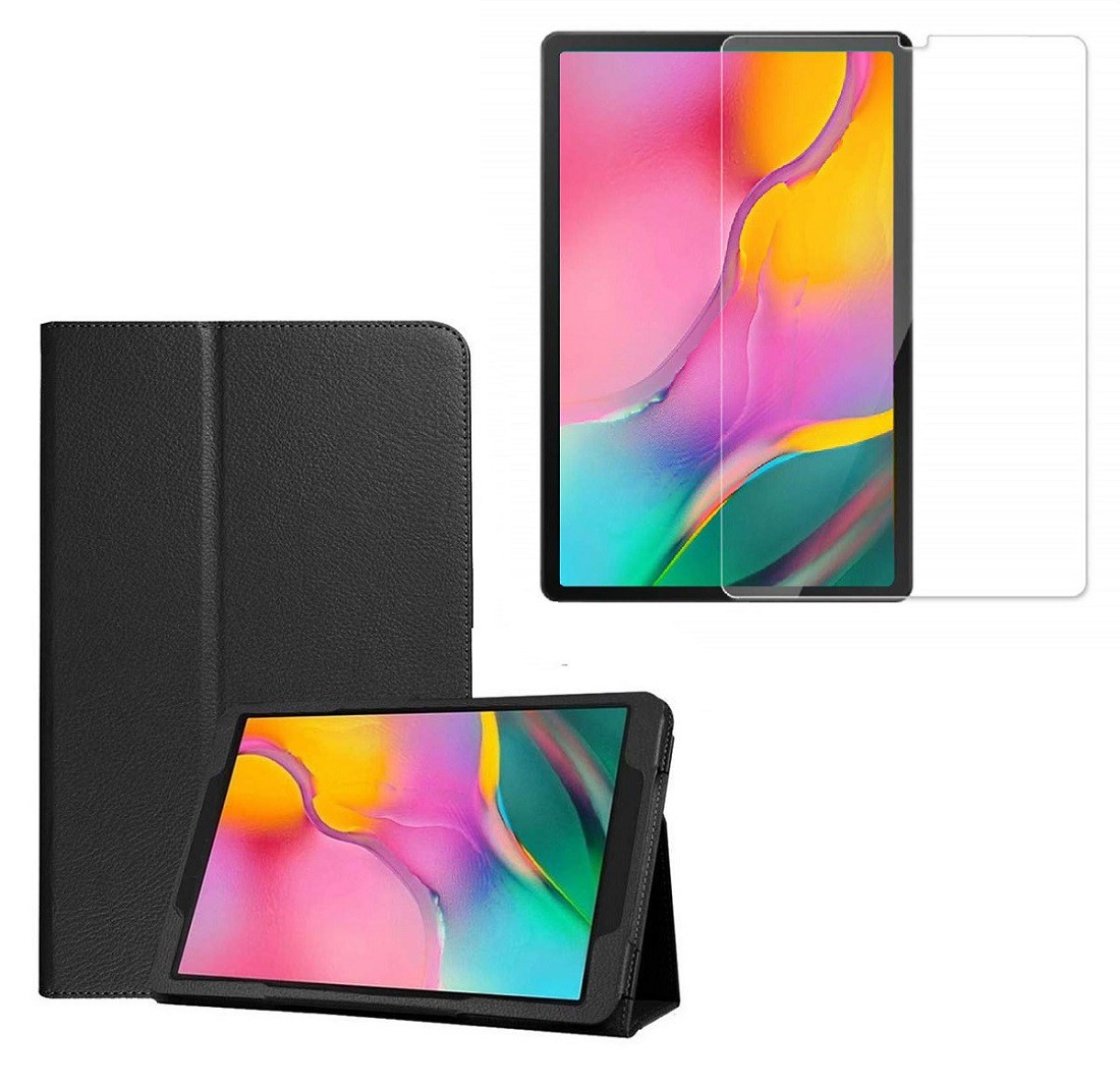 Kit Capa Tablet Samsung Galaxy Tab A 10.1 T510 Pasta Magnética + Película de Vidro