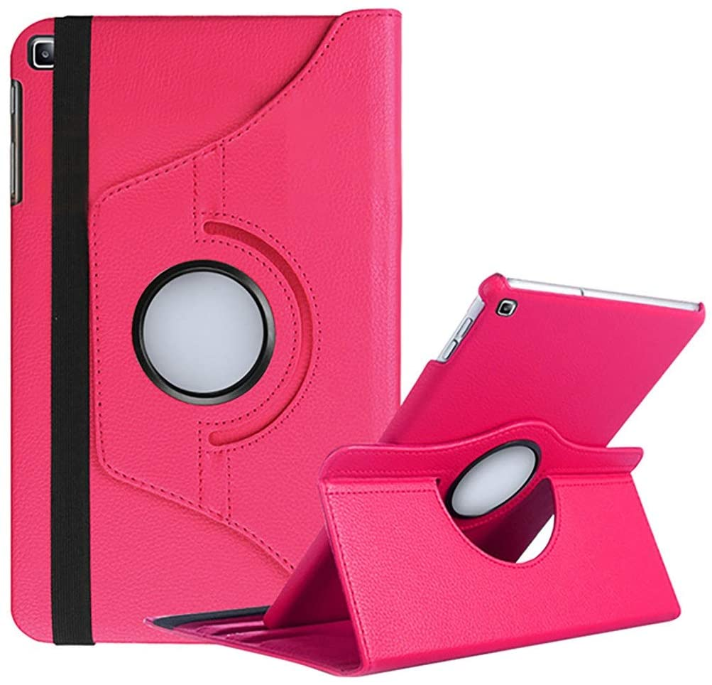 Kit Capa Tablet Samsung Galaxy Tab A 10.1 T510 T515 Giratória Rosa + Película de Vidro