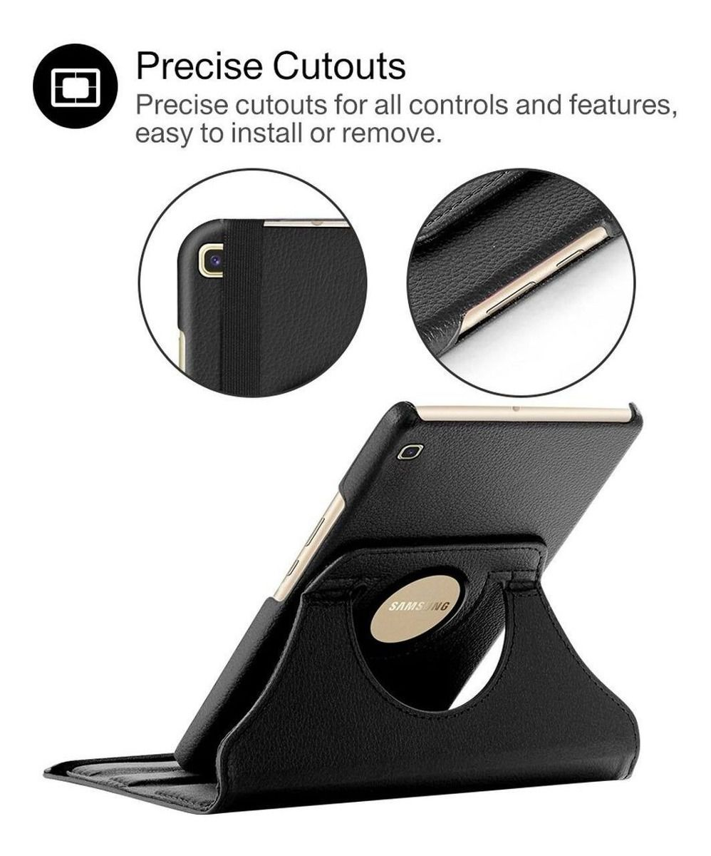 Kit Capa Tablet Samsung Galaxy Tab A 8 T290 T295 Giratória + Película de Vidro