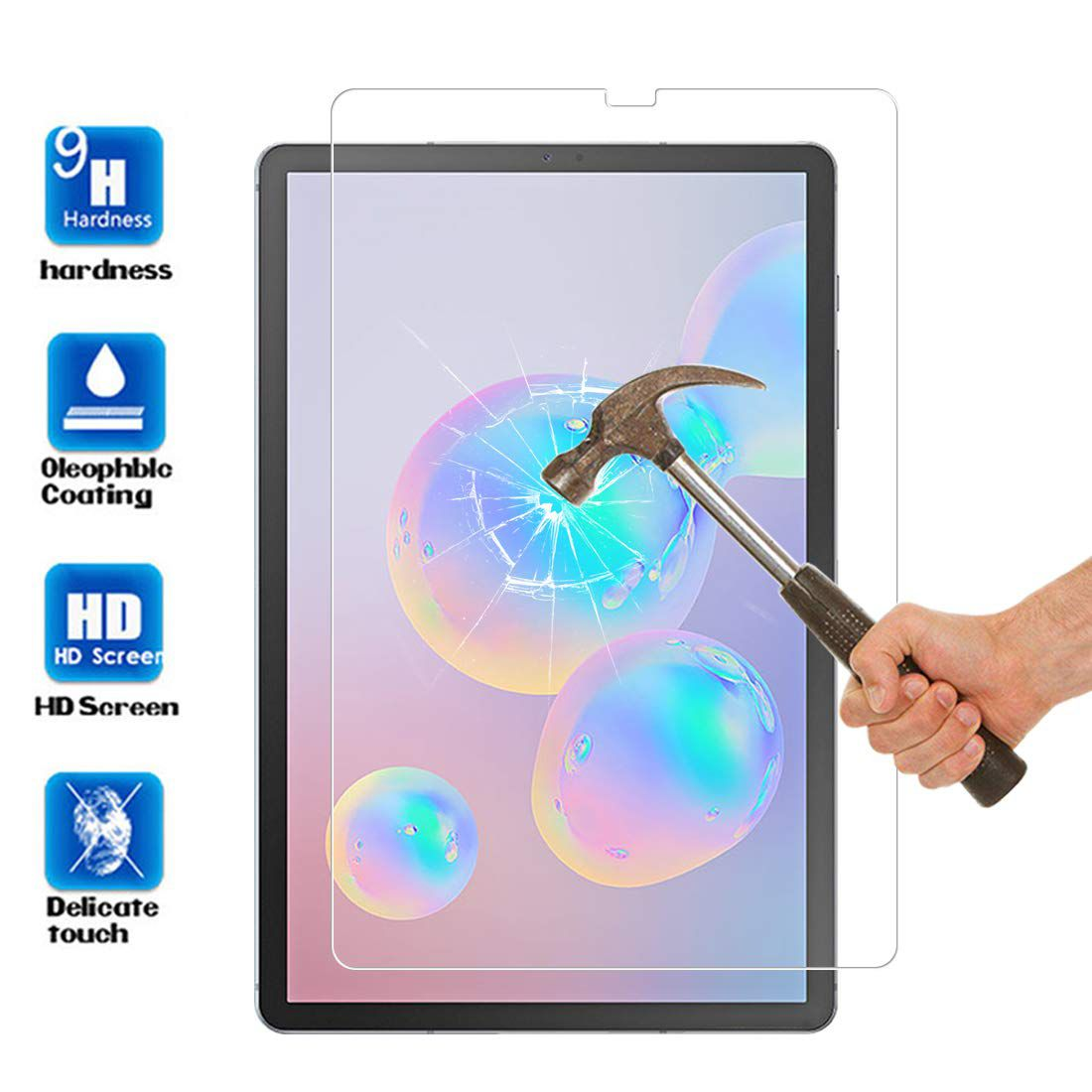 Kit Capa Tablet Samsung Galaxy Tab S6 10.5 T860 T865 Giratória + Película de Vidro