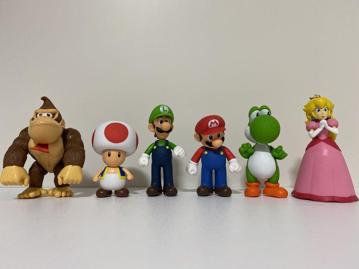 Kit de Bonecos Super Mario Personagens Jogo Nintendo