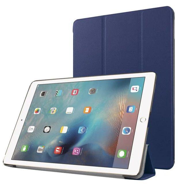 Kit Smart Case Ipad 6 Apple A1893 A1954 Sensor Sleep Azul Marinho + Película de Vidro