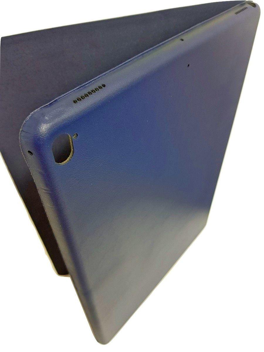 Kit Smart Case Ipad Pró 12.9 Apple 2017 Sensor Sleep Azul Marinho + Película de Vidro
