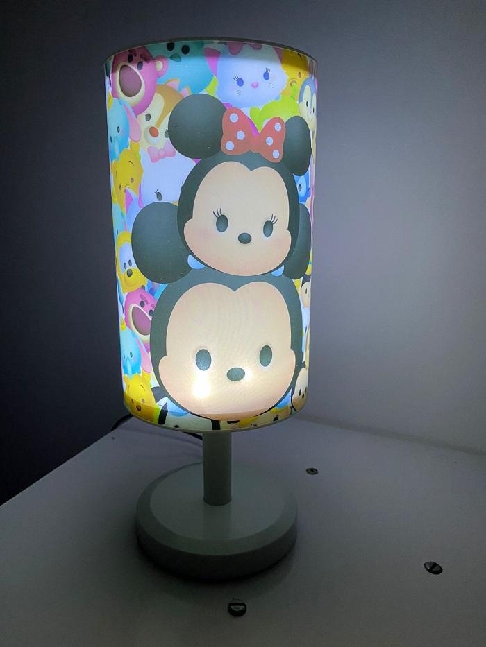 Luminária Abajur Mickey & Minnie Tsum Tsum Disney Efeito Estrelado