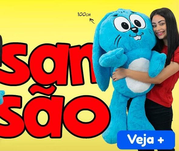 Pelúcia Coelho Sansão Turma da Mônica Grande 1 Metro - Especial Dia das Crianças