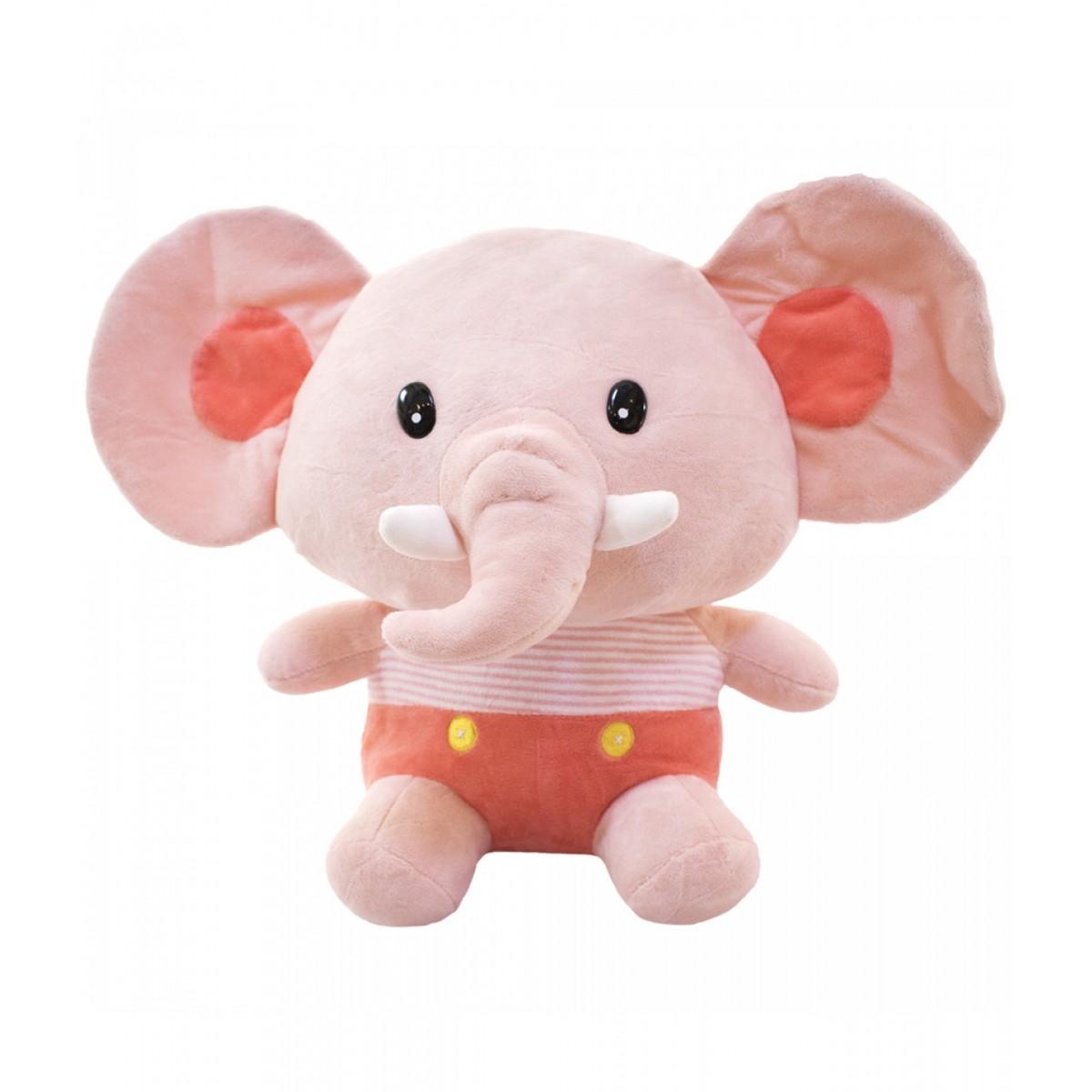 Pelúcia de Elefante Bebê Rosa 30cm Poliéster