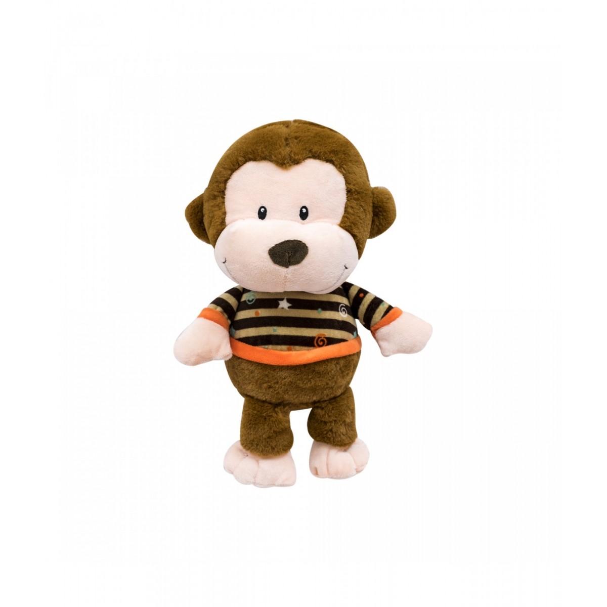 Pelúcia de Macaco de Roupa Listrada 28cm