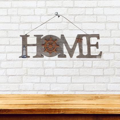 Placa de Madeira Home Decoração de Casa Tema Náutico