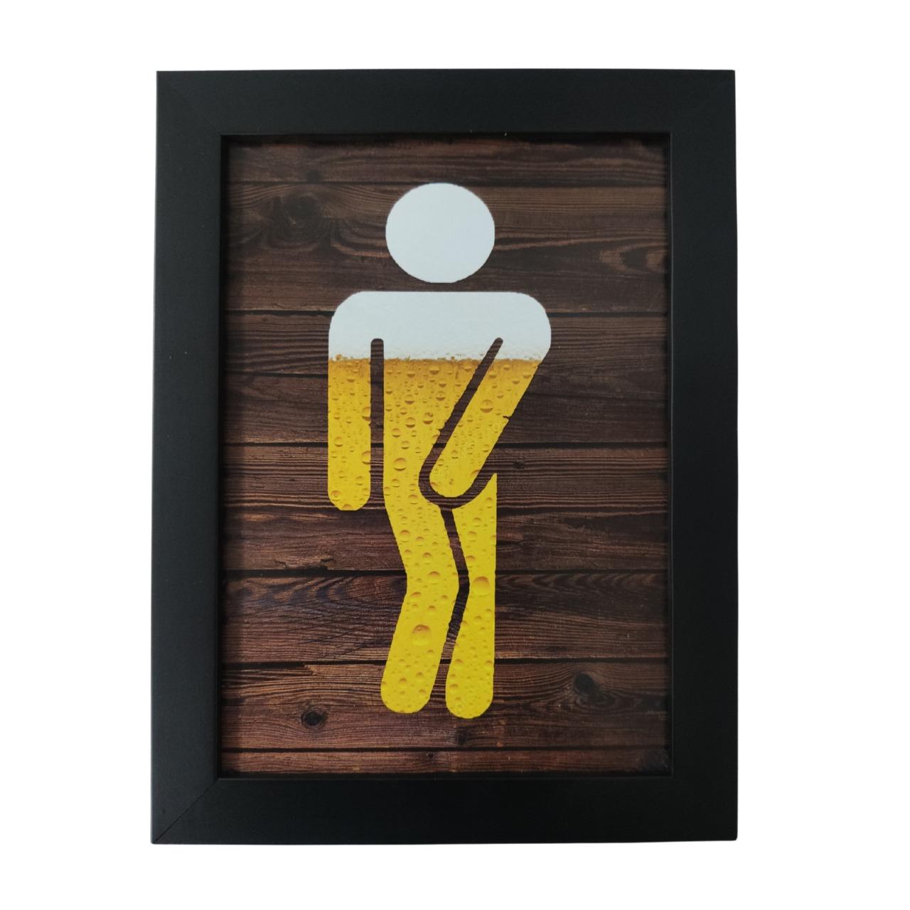 Placa Indicativa de Banheiro Toalete Criativo para Bar e Restaurante - Homem / Masculino