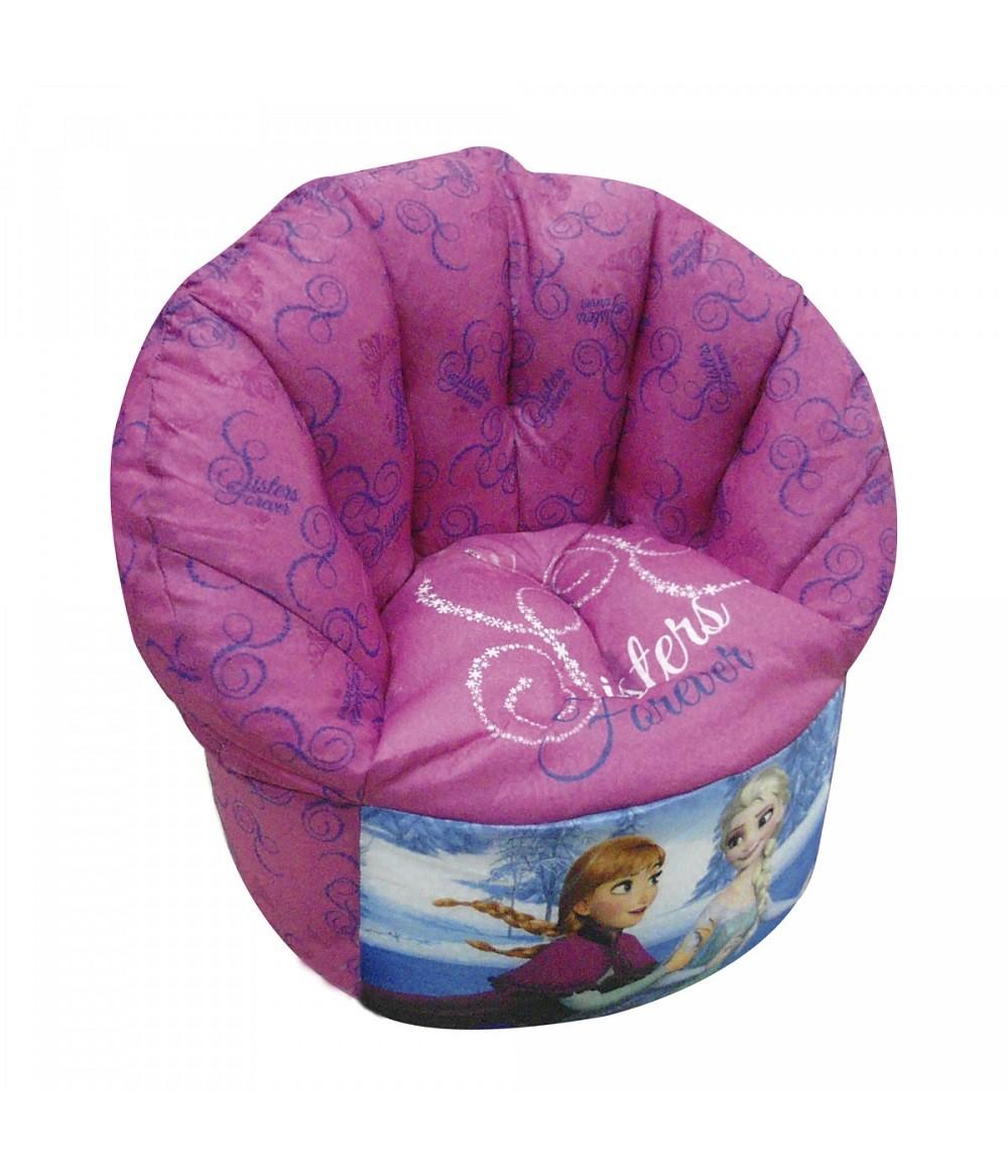 Poltrona Cadeira Disney Frozen Anna & Elsa 49cm - Lilás
