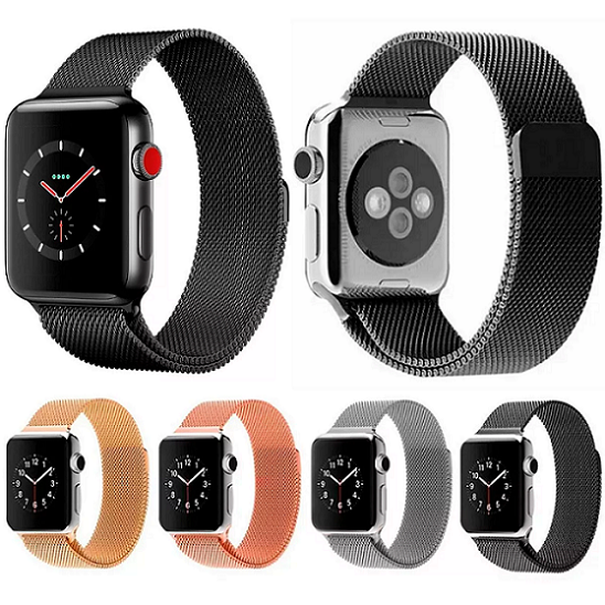 Pulseira para Apple Watch Milanese Aço Loop Metal 42mm / 44mm - Series 1 2 3 4