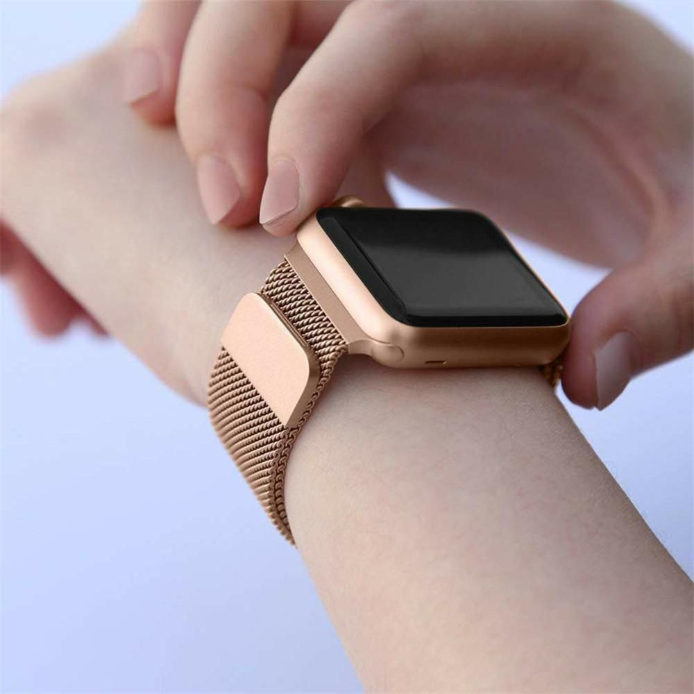 Pulseira para Relógio Smart Watch Milanese Aço Loop Metal 38mm 40mm Series 1 2 3 4