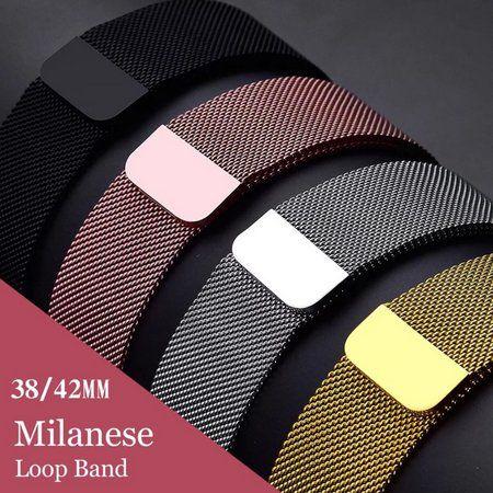 Pulseira para Relógio Smart Watch Milanese Aço Loop Metal 42mm 44mm Series 1 2 3 4