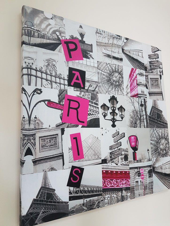 Quadro Decorativo Casa e Escritório Paris - Torre Eiffel - Arco do Triunfo