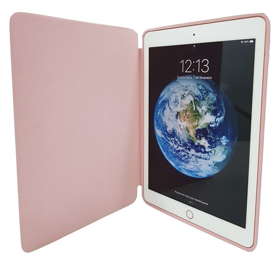Smart Case Ipad 6 Premium Ipad 9.7 2018 Apple A1893 (6º geração) Rosa
